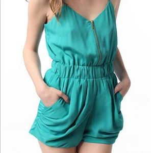 Lucca couture from urban outfitters zip up romper